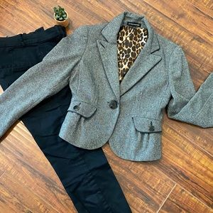 Express gray tweed blazer